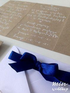 Eko story - zaproszenia  projekt, wykonanie, zdjęcie: minwedding