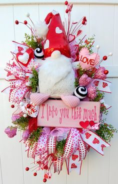 Valentine Day Wreaths, Valentines Day Decorations, Valentine Crafts, Easter Crafts, Christmas Wreaths, Crafts For Kids, Valentine Ideas, Spring Wreaths, Christmas Crafts