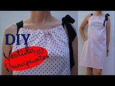 Tutorial DIY. Vestido pillow dress para principiantes ( patrón incluido ) - YouTube
