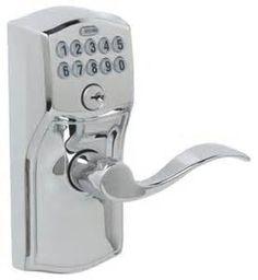 Schlage Electronic Keypad Door Lock in Satin Nickel ideal for