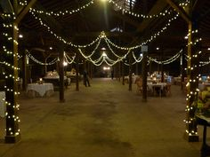 Barn / warehouse wedding reception