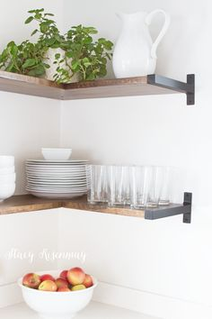 Open Shelves in The Kitchen | Not JUST A Housewife