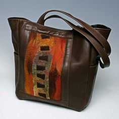 Heather Kerner, felt and leather handbag