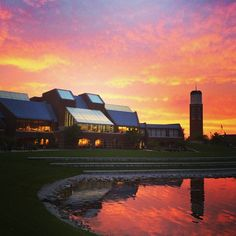 Sunset on campus Aug. 25: perfect end to the first day of classes! (Photo via Matt Harris)