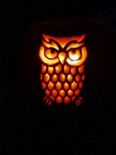 Printable owl pumpkin carving template holidayss pinterest owl easy owl pumpkin carving ideas be sure to follow goodcook on twitter to learn maxwellsz