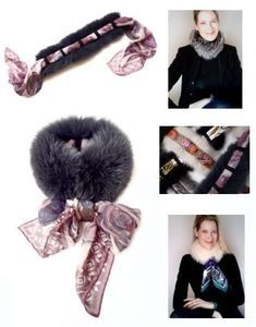 Mode Russe, Fur Accessories, Travel Accessories, Scarf Jewelry, How To Wear Scarves, Fur Fashion, Fur Collars, Silk Scarves, Business Fashion
