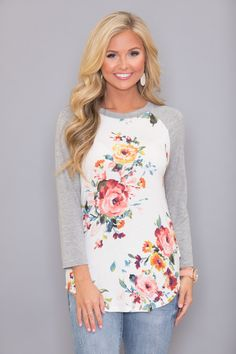 Spring Sweethearts Floral Blouse - The Pink Lily