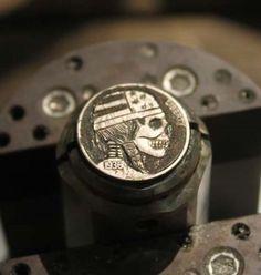 Coalburn-Hobo-Nickel-engraved-Love-Token-Skull-bandana-art-OHNS