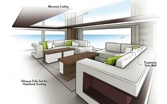 Yacht Interior Sketch Study on Behance
