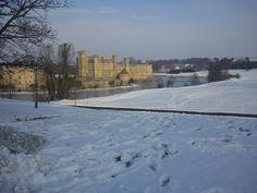 Leeds Castle on a beautiful snowy morning.