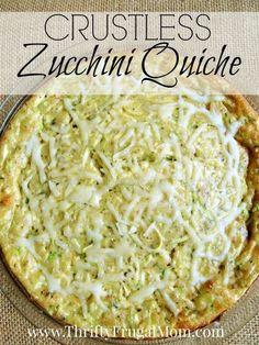 Zucchini Quiche- a delicious way to use up zucchini and it's super ...