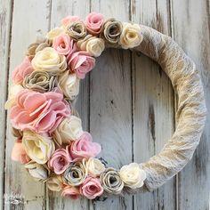 Felt Flower Wreath   Sizzix Tutorial - Michelle's Party Plan-It