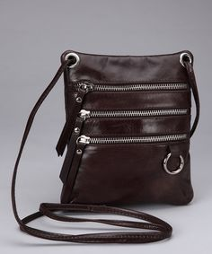 Take a look at this Nino Bossi Chocolate Multi Zipper Mini Tote by Nino Bossi Handbags on #zulily today!