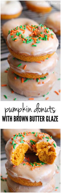 An easy to make pumpkin donut with a to die for brown butter glaze!