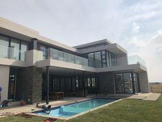Side mount Balustrades installed at Serengeti Estate Frameless Glass Balustrade, Safety Glass, Doors, Mansions, Live, House Styles, Design, Home Decor, Mansion Houses