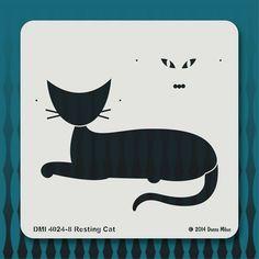 4024-8 Resting Cat stencil http://www.istencils.com/