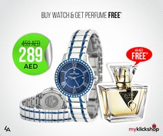 Buy Louis Arden Women Watch and Get Guess seduction perfume for women free!!