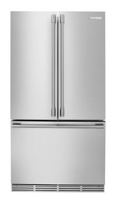 Ideal fridge-  French Door/Bottom Freezer Refrigerator. Most people access their refrigerator compartment ten times more frequently than the freezer, so it makes sense to have the refrigerator at eye (and arm) level. French doors are space efficient (opening the doors requires half the space of full-size doors) and energy efficient (opening one French door keeps more cold air inside as compared to one large swing door).