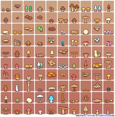 100-fungi-sprites-by-neorice by Neoriceisgood on DeviantArt