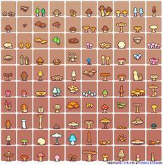 100-fungi-sprites-by-neorice by Neoriceisgood.deviantart.com on @DeviantArt