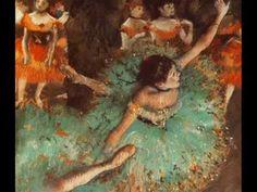 Edgar Degas Paintings of the Ballet set to music.  Lovely!