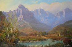 De Jongh, Gabriel   Cape Landscape   Oil on Canvas   Size : 600 x 910mm   Code : 9431 Acrylic Painting Trees, Artist Painting, Gabriel, Landscape Art, Landscape Paintings, South Africa Art, South African Artists, Drift Wood, Cool Art Drawings