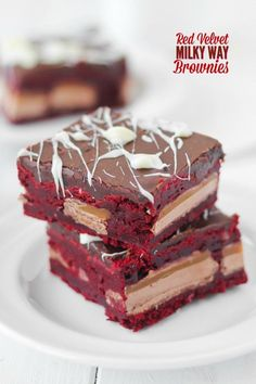 red velvet milky way brownies confessionsofacookbookqueen com red ...