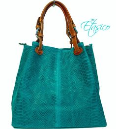 Italian Leather Python Snakeskin Print Handbags Made in Italy