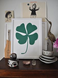 Well my maiden name does mean clover.....