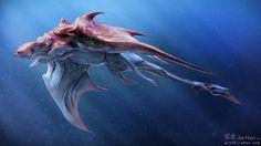 Sea Ray, Jia Hao on ArtStation at https://www.artstation.com/artwork/OyeJy