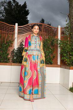 Tiko Dashiki African Print Top/Dress Shweshwe Dresses, African Maxi Dresses, African Tops, Dashiki, Casual Dresses, Summer Dresses, African Print Fashion, Pink Dress, Iron