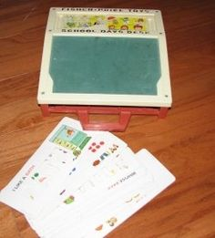 Fisher Price Writing Desk - I love all these old memories oh what use to keep me busy for hours!!