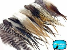 100 Pieces - Wholesale NATURAL Short Rooster Hair Extension Feathers (bulk) $16
