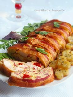 The home flavors: Chicken marble mustard, thyme potatoes Easy Chicken Recipes, Meat Recipes, Dinner Recipes, Cooking Recipes, Cold Dishes, Good Food, Yummy Food, Hungarian Recipes, Hungarian Food
