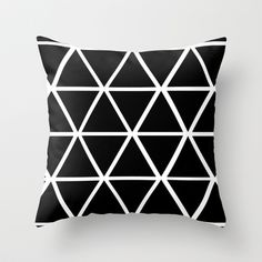 BLACK+&+WHITE+TRIANGLES+2+Throw+Pillow+by+Natalie+Sales+-+$20.00