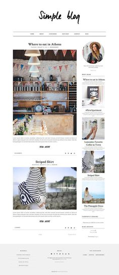 A really simple and elegant Blogger Template. It is responsive and comes equipped with a lot of different widgets, customizations and options for you! Get it now in our Etsy Shop / MunichParis Studio  Simple Blogger Template / Responsive Blogger Template