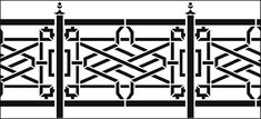 Chinese Style Railings stencils, stensils and stencles