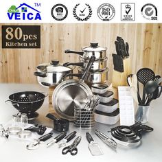 Ships from US Warehouse via USPS; Delivering to US addresses within 5-10 days. International Address delivery times may vary Type: Cookware Sets Certification: CIQ,EEC,FDA,LFGB,CE / EU,SGS Pot Cover: