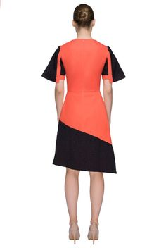 Orange cotton dress -'Wild Call' by LATTORI designer dresses. Shop online. Free shipping on US orders.