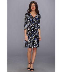 Jessica Howard 3/4 Sleeve Empire Waist Fit & Flare Dress