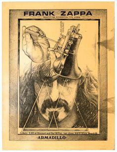 Frank Zappa. Armadillo World Headquarters. March 10, 1973. © Jim Franklin.