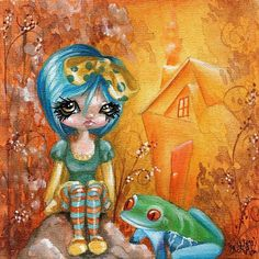 whimsical art | Froggy Friend - by Sour Taffy from Whimsical Fantasy