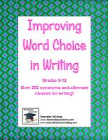 Improving Word Choice in Writing -  Pinned by @PediaStaff – Please Visit http://ht.ly/63sNt for all our pediatric therapy pins