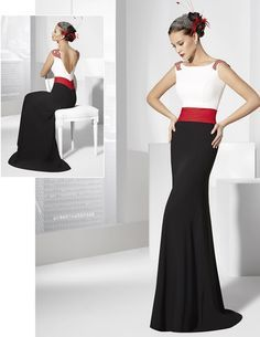 Black, white and red Stylish Dresses, Elegant Dresses, Pretty Dresses, Fashion Dresses, Formal Dresses, Beautiful Gowns, Beautiful Outfits, Gala Dresses, Special Dresses