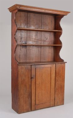 Pine Pewter Cupboard, New England...