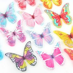 Edible wafer Butterflies, assorted designs and colours, pack of Perfect decorations for cupcakes, wedding cakes & birthday cakes. 1st Birthday Parties, Girl Birthday, Birthday Cakes, Cake Pop Decorating, Make An Effort, Butterflies, Wedding Cakes, Candy, Colours