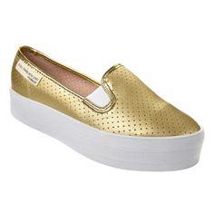Slipper Flatform Moleca 5618100 - Dourado