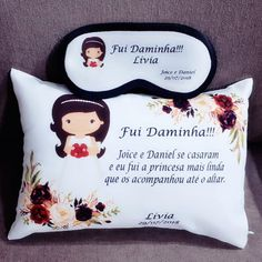 Lembrancinha Daminha e Pajem Marsala Wedding Altars, Thing 1, Mother Of The Bride, Wedding Planner, Our Wedding, Marriage, Baby Shower, Crafts, Pillows