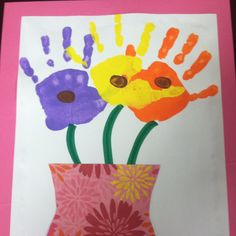 We are pretty proud of our flowers! Mothers Day craft!