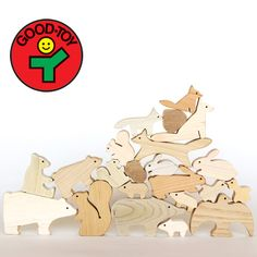 DobutsuMiki the forest [unpainted in the domestic timber use, wooden toys safe and secure]